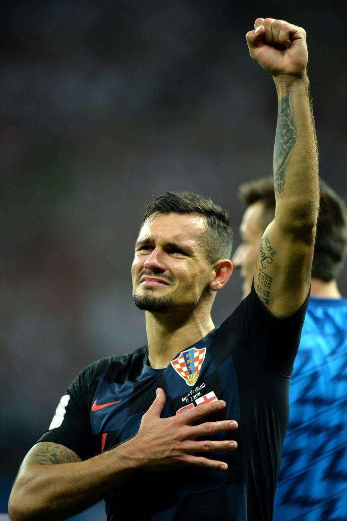 El croata Dejan Lovren celebra la clasificación de su selección a la final del Mundial de Rusia 2018. Foto EFE