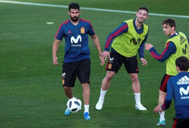 El delantero de la selección española, Diego Costa. Foto: EFE