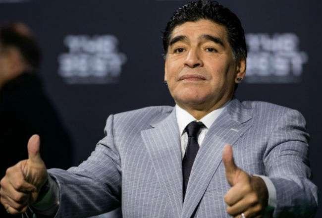 El exjugador argentino Diego Maradona.