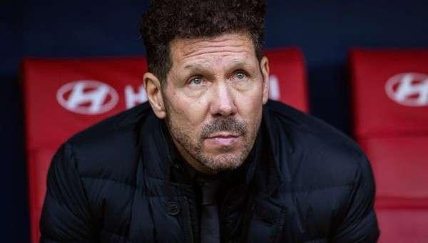 Diego Simeone, técnico del Atlético de Madrid.