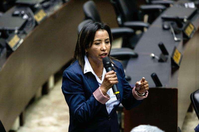 La diputada Yajaira Forero, fue una de las denunciantes del hecho ante el pleno del Parlamento venezolano. EFEArchivo
