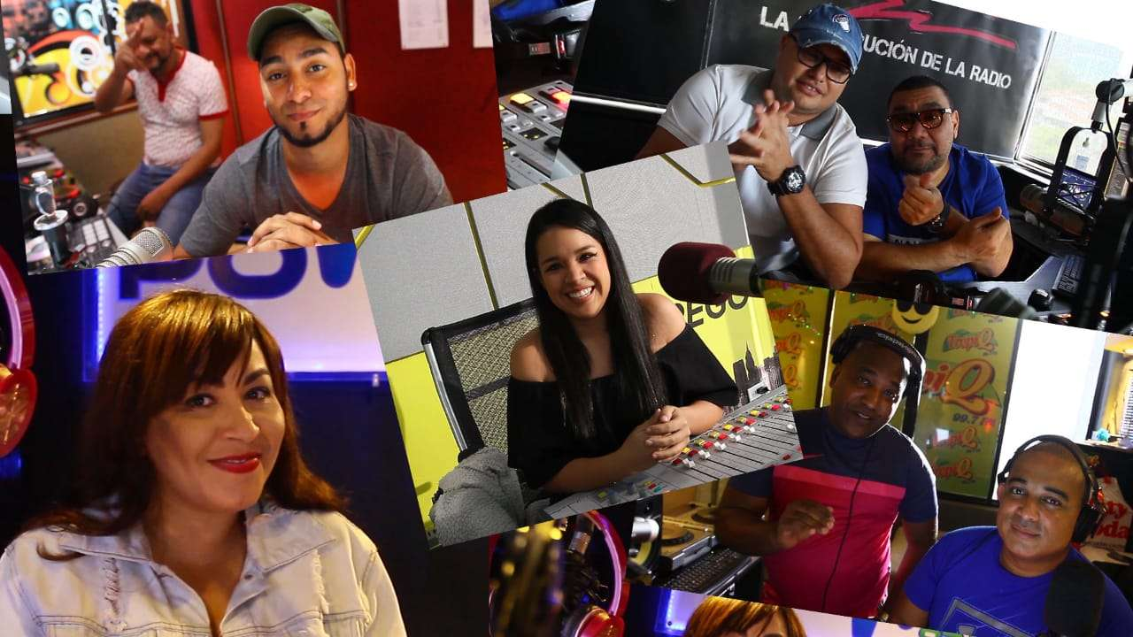 En la imagen Dj de diferentes emisoras. Foto combinación: Edwards Santos
