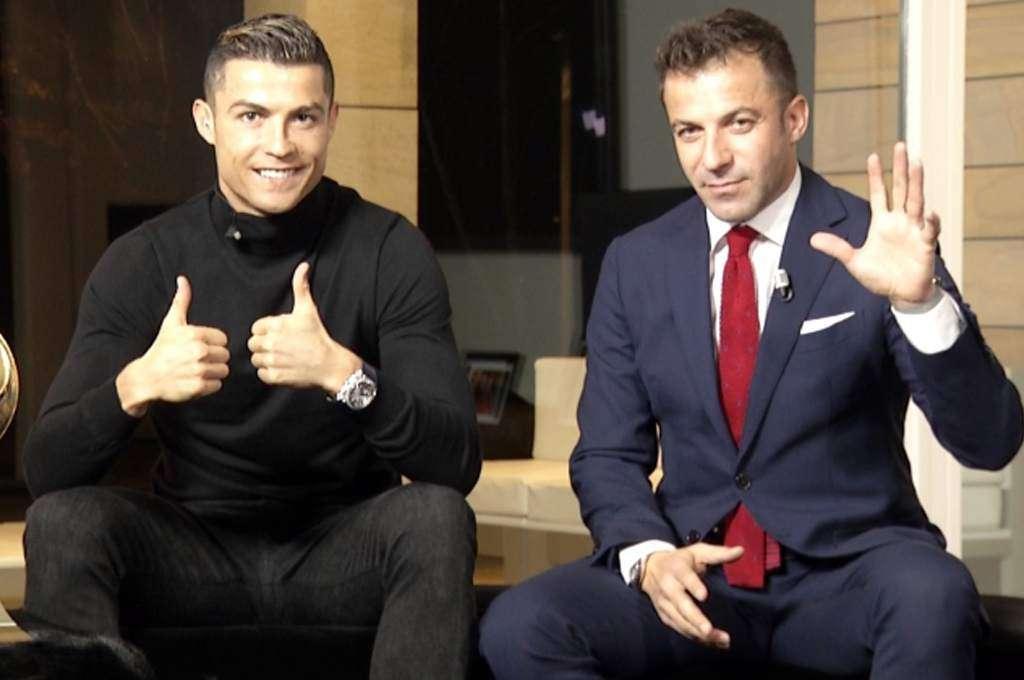 Cristiano Ronaldo y Alessandro Del Piero.