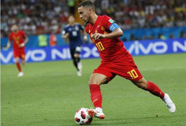 El jugador belga  Eden Hazard. Foto:EFE