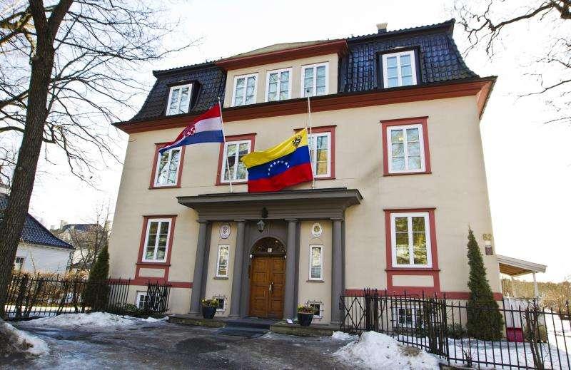 Imagen de la embajada de Venezuela en Oslo. EFEArchivo