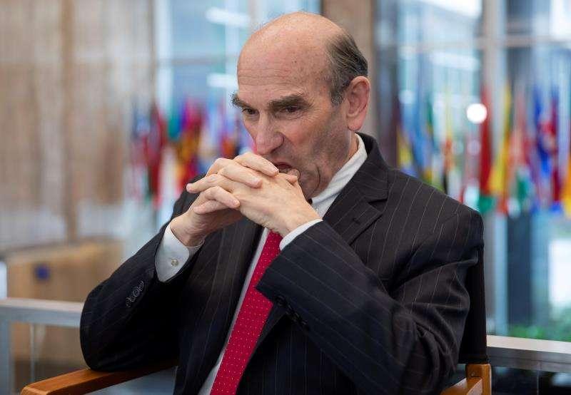 El enviado de EE.UU. para Venezuela, Elliott Abrams, ofrece declaraciones a los medios en el Departamento de Estado en Washington D.C (Estados Unidos). EFEArchivo