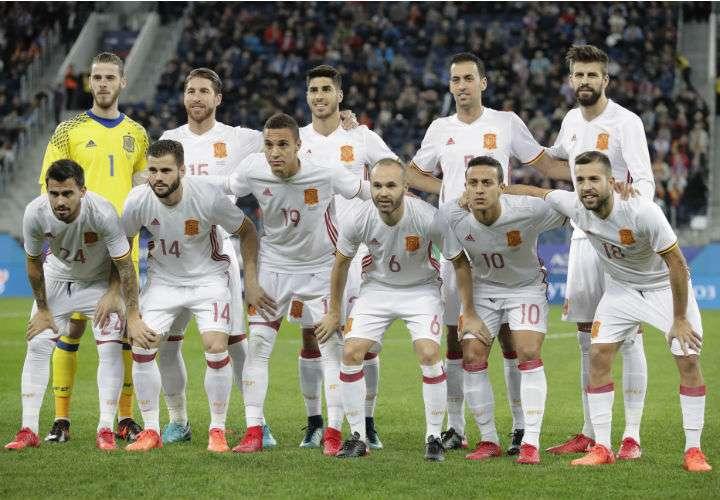 La selección de España hará su debut en el Mundial de Rusia 2018 ante Portugal. Foto EFE