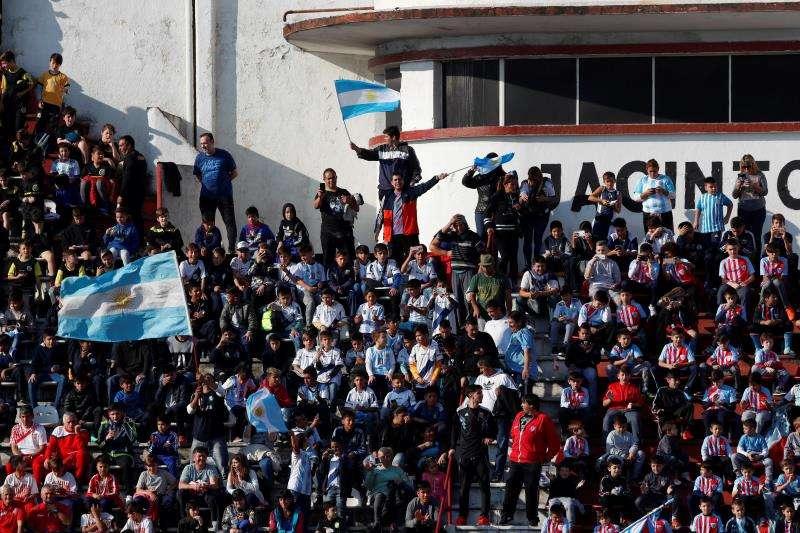 En apenas 20 minutos se vendieron casi la totalidad de las 34.000 entradas del Estadio Teddy, para el partido entre Israel y Argentina. Foto EFE
