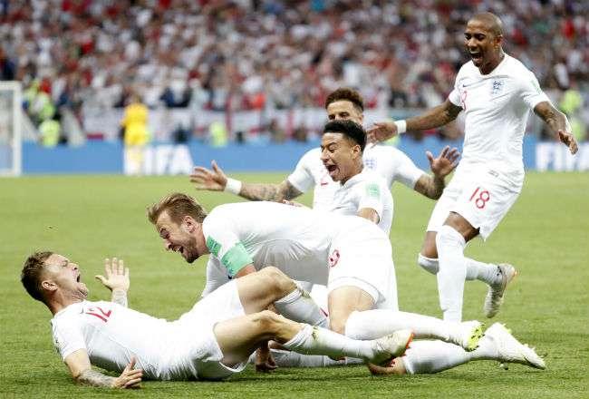 La selección de Inglaterra ha tenido un buen Mundial de Rusia 2018. Foto:EFE