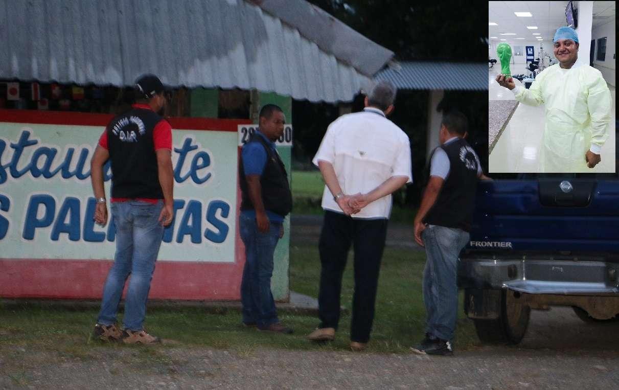 Vista general del área en donde ocurrió el homicidio en Barú. Foto: Mayra Madrid