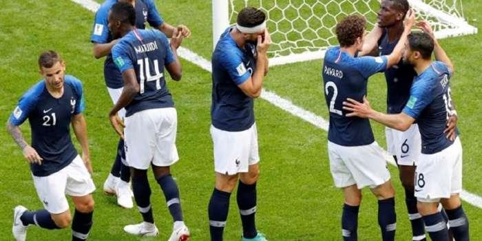 La selección de Francia durante un partido del mundial Rusia 2018./EFE