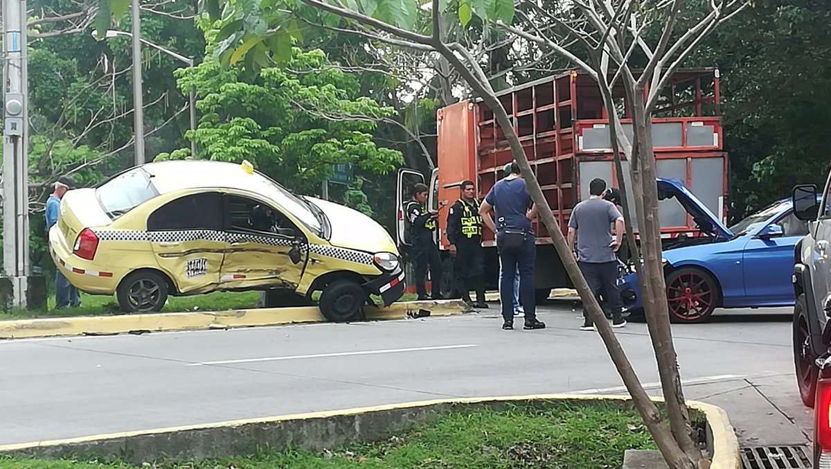 Vista general del lugar del accidente en Amador. Foto: @BCBRP