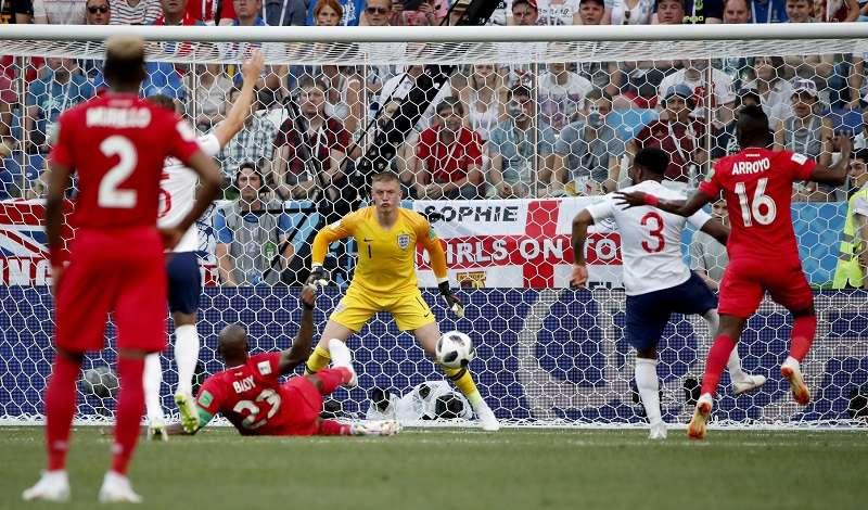 Felipe Baloy ha sido el autor del único gol de Panamá en el Mundial de Rusia 2018. Foto EFE