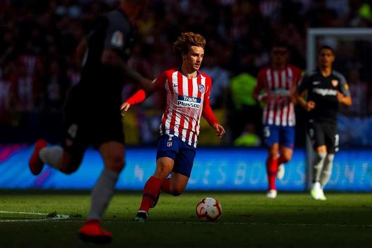 El delantero francés del Atlético de Madrid, Antoine Griezmann. durante el partido de Liga en Primera División. Foto: EFE