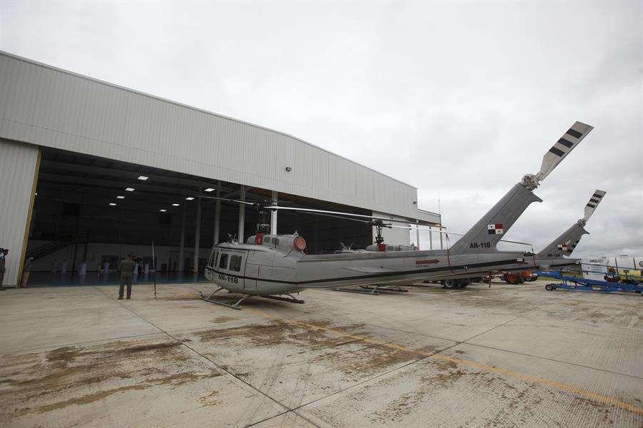 El acto oficial se realizó en la estación Mayor Salvador Córdoba del Servicio Nacional Aeronaval de Panamá (Senan). EFE