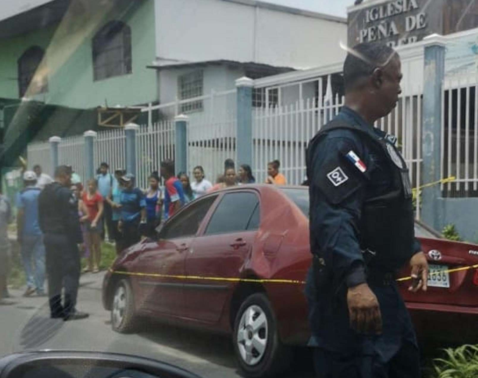 Escena del crimen en La Pavita.  Foto: @TraficoCPanama