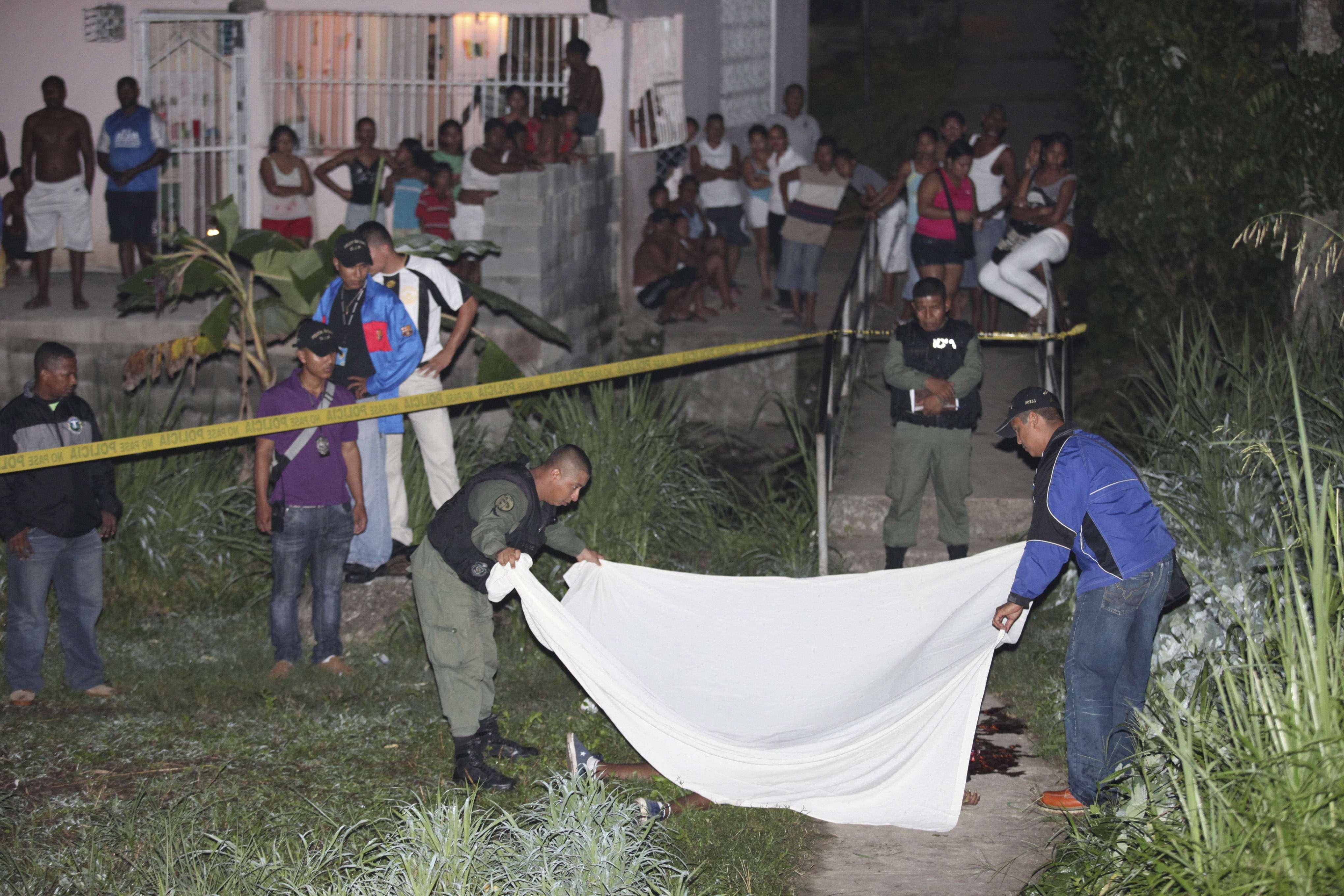 """Escena del asesinato de """"Pacorita"""". Foto/ Archivo"""
