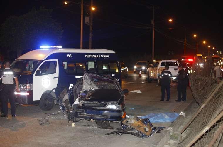 Área donde se dio el accidente de tránsito. Foto: Alexander Santamaria