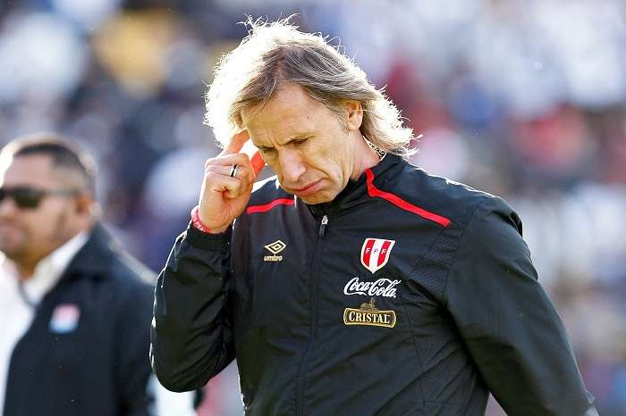 El director técnico de la selección de Perú, Ricardo Gareca/ AP