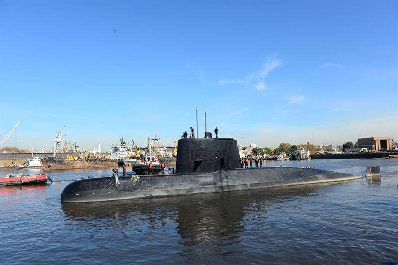 Imagen proporcionada por la Armada de Argentina del submarino ARA San Juan. EFE/Armada de Argentina