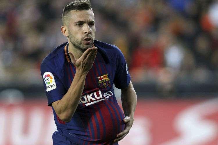 Jordi Alba anotó el gol del empate para el Barcelona. Foto: AP
