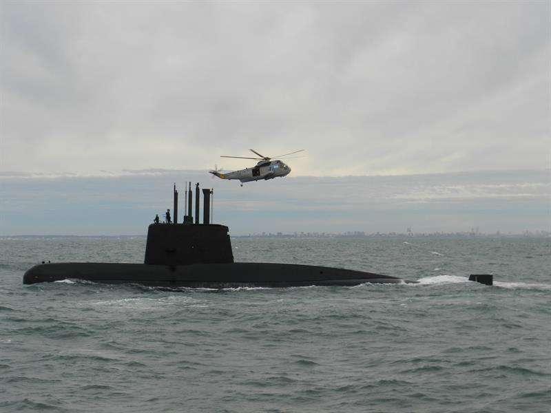 Fotografía sin fecha cedida por la Armada Argentina que muestra el submarino de la Armada desaparecido. EFEArmada Argentina
