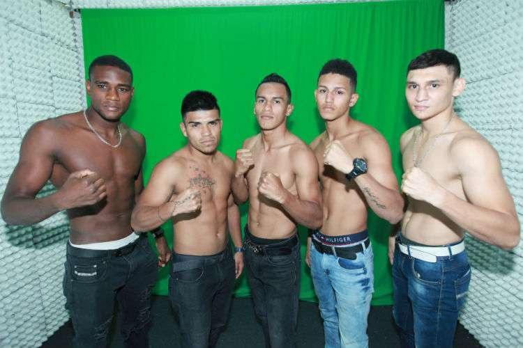 Algunos de los boxeadores panameños que  verán acción en la función del 14 de diciembre. Foto: Anayansi Gamez