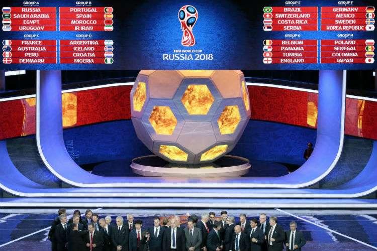 Los ocho grupos del Mundial Rusia 2018.