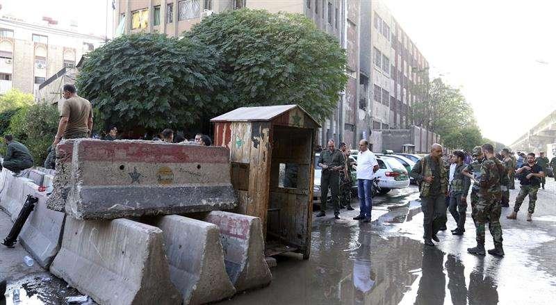 Vista general del lugar de un atentado en el centro de Damasco, Siria. EFEArchivo