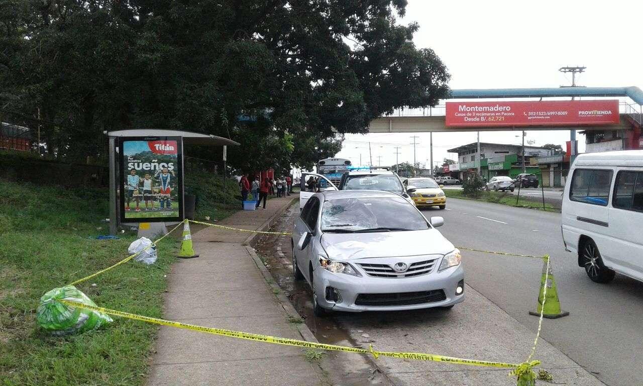 El conductor involucrado en el hecho se dio a la fuga, pero el  vehículo fue retenido un par de kilómetros más adelante del lugar del atropello. /  Foto: Edwards Santos
