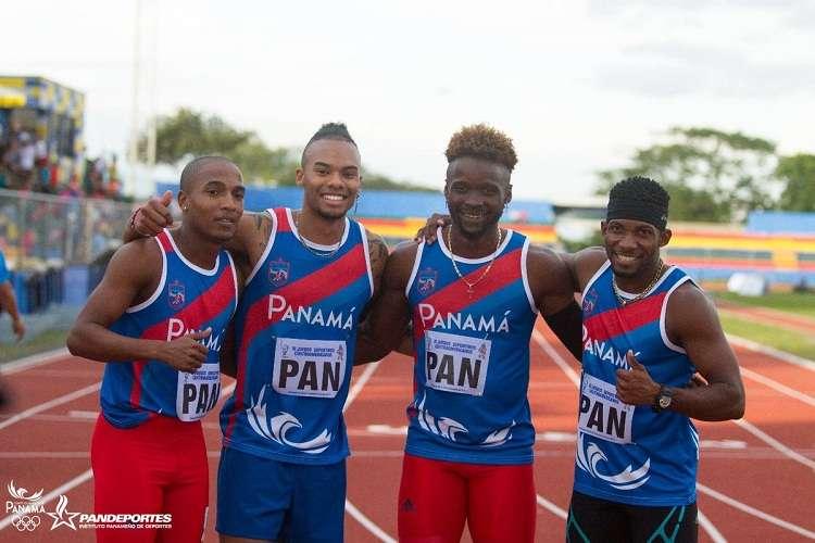 El equipo de relevo masculino venció con un tiempo de 41.05. Foto: Comité Olímpico de Panamá
