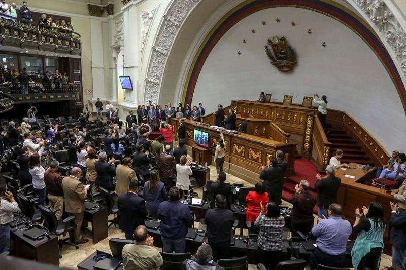 Fotografía del salón de sesiones de la Asamblea Nacional Constituyente de Venezuela. EFEArchivo