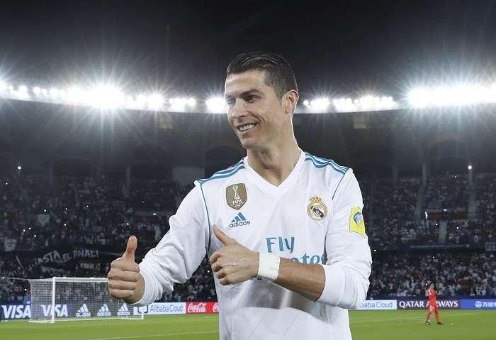 Cristiano Ronaldo celebra la victoria en la final del Mundial de Clubes. Foto: AP