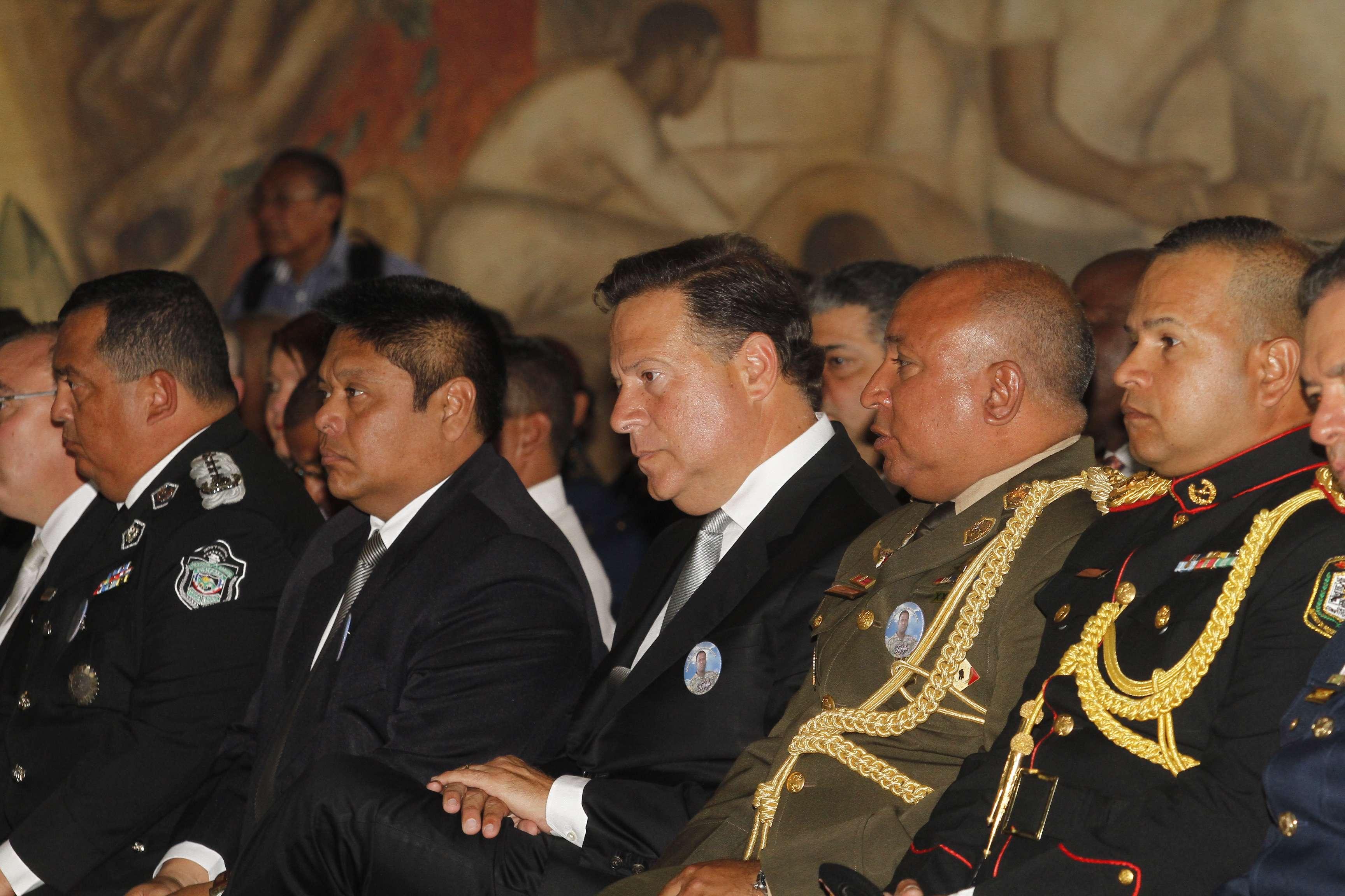 Los directores de la Policía Nacional, SENAN y Senafront, Omar Pinzón, Belsio González y Cristian Hayer, se jubilan el próximo mes.