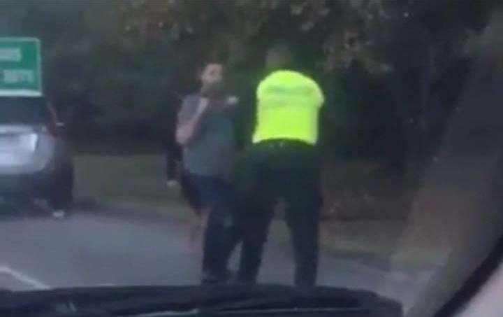 El conductor agresor manejaba bajo los efectos del alcohol./ Foto: @protegeryservir