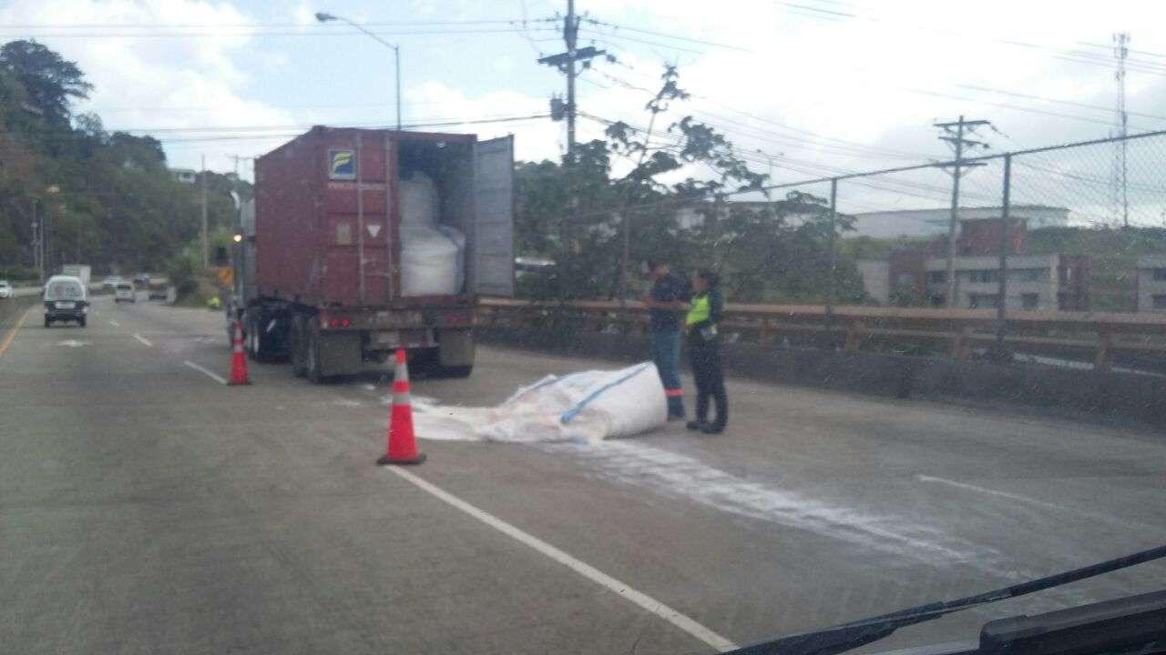 El inusitado suceso ocasionó un tremendo tranque vehicular. /  Foto: Landro Ortiz