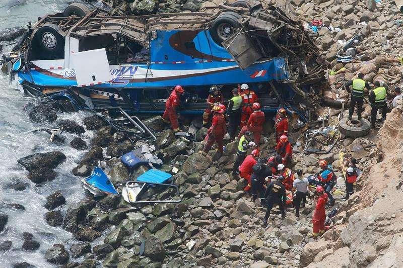 El acantilado tenía 160 metros de profundidad. Foto: EFE