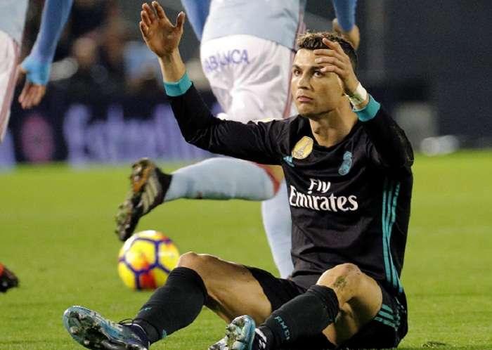 El delantero portugués del Real Madrid no puso marcar ante Celta de Vigo. Foto: EFE