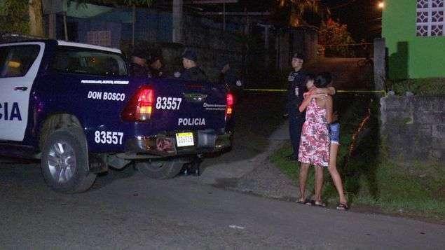 Vista general de la escena del asesinato:  /  Foto: Jorge Luis  Barría