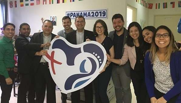 Visita del comité de Río de Janeiro al COL   de Panamá / Foto: Archivo personal / Padre Ramon Nascimiento.