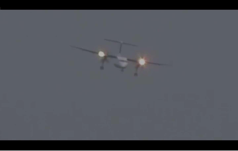 El avión estuvo a punto de colapsar en medio de los fuertes vientos. Captura de video
