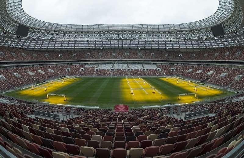 Estadio Luzhnikí, donde se jugará el partido inaugural el 14 de junio y la final el 15 de julio. / Foto AP