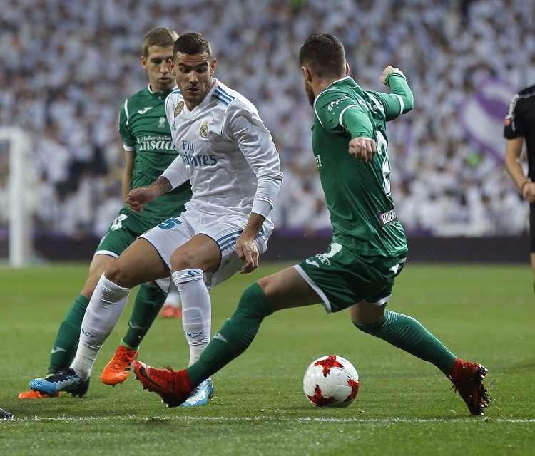 Acción del partido entre Real Madrid y Leganés./ Foto AP