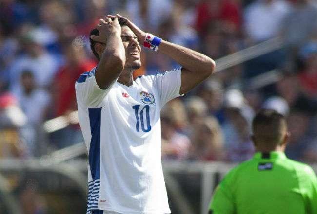 Ismael Díaz jugó tres partidos con la Selección Mayor de Panamá en la Copa Oro 2017, además fabricó un gol en el torneo. EFE