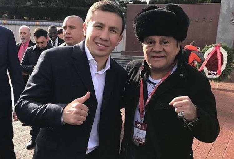 El kazajo Gennady Golovkin junto a Roberto Durán. Foto: Instagram