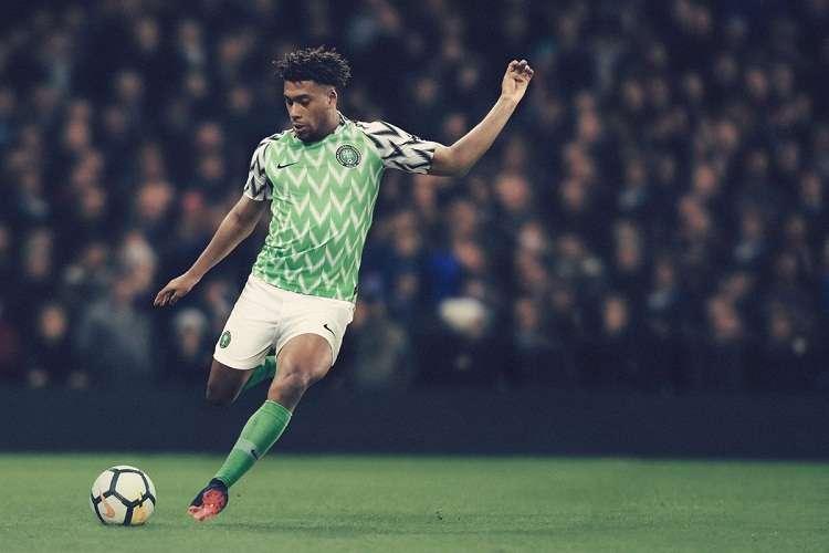 Nike hizo oficial la camiseta que usará Nigeria en el Mundial. Foto: Twitter