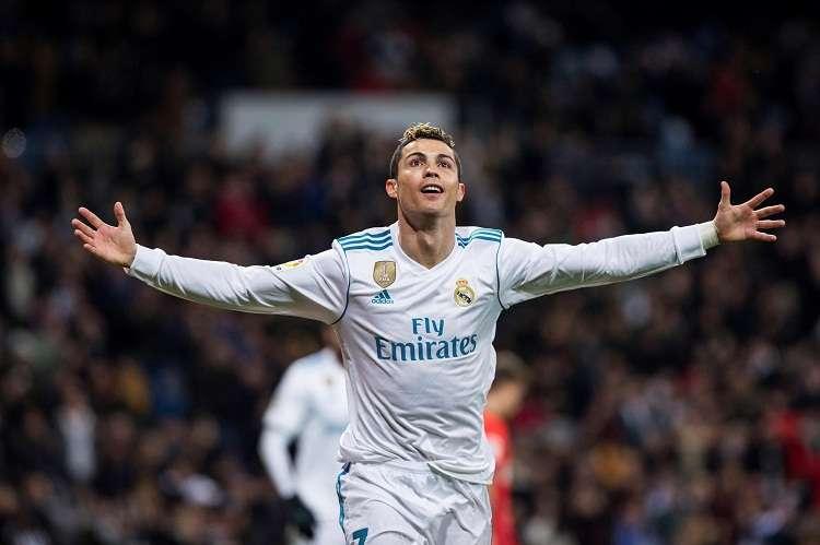 Cristiano Ronaldo, celebra su anotación con el Real Madrid. Foto: EFE