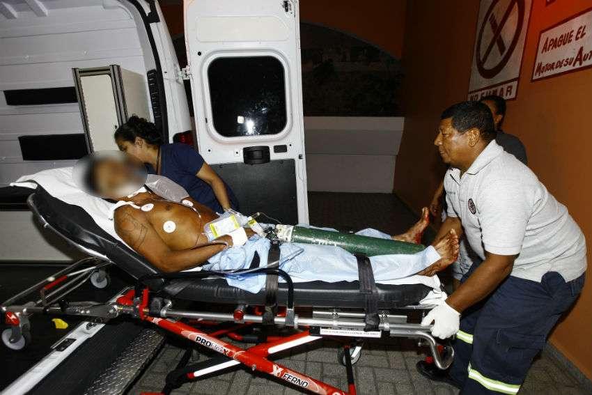 El herido se encuentra fuera de peligro. /  Foto: Alexander Santamaría