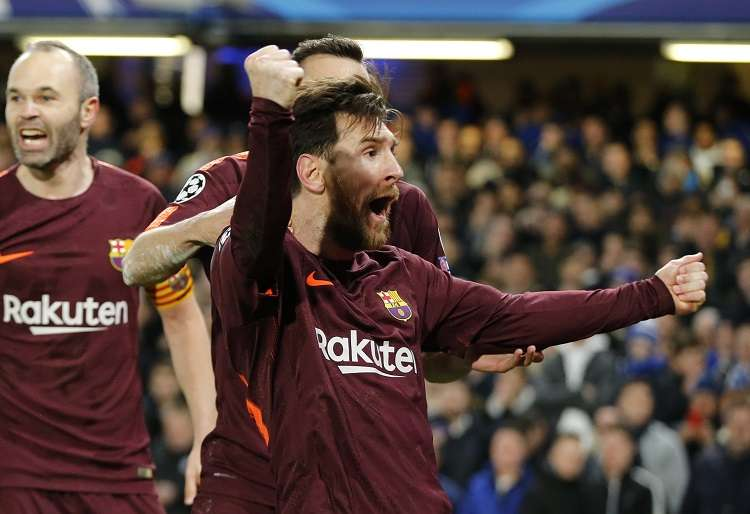Lionel Messi festeja./ Foto AP