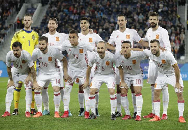 España jugará en el Grupo B del Mundial ante Portugal, Marruecos e Irán. Foto AP
